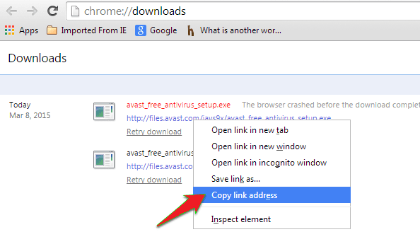 crdownload file