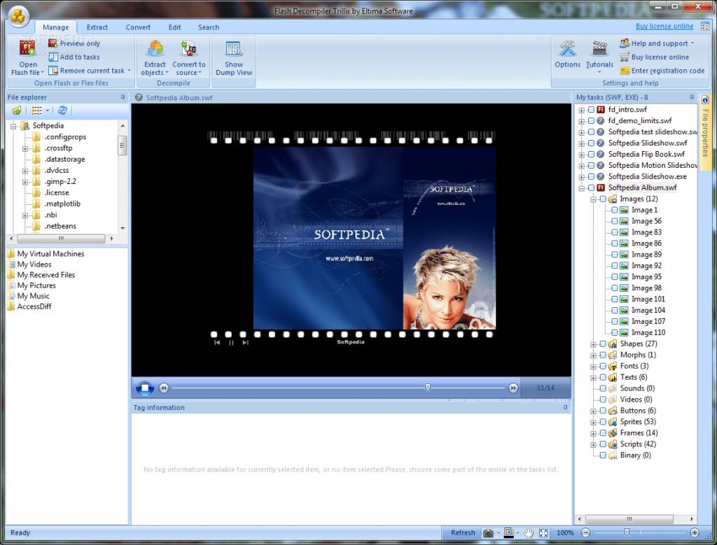 Opening swf file