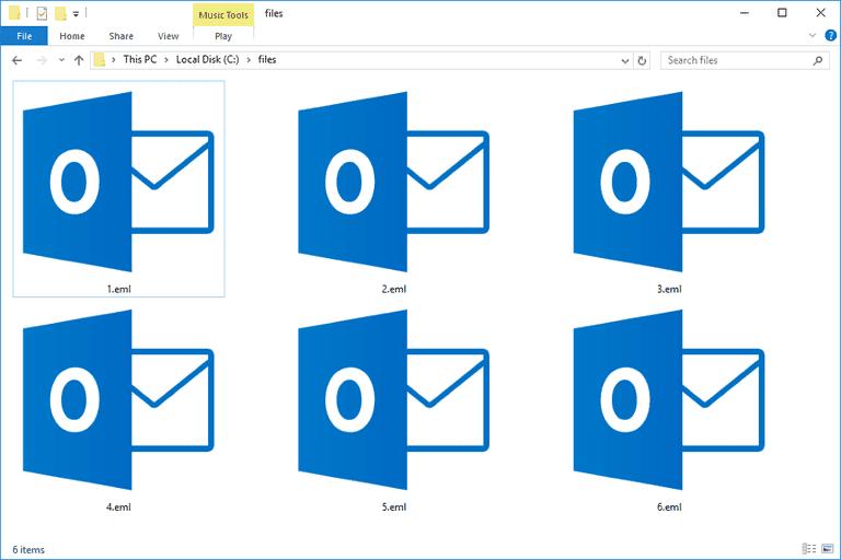Open EML File