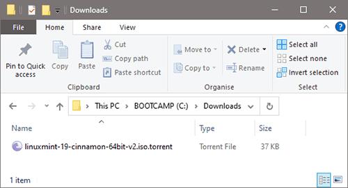 Torrent file size